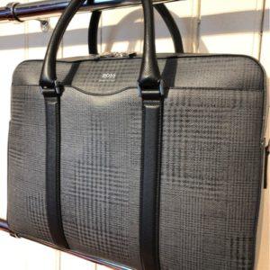 Hugo Boss Check Briefcase